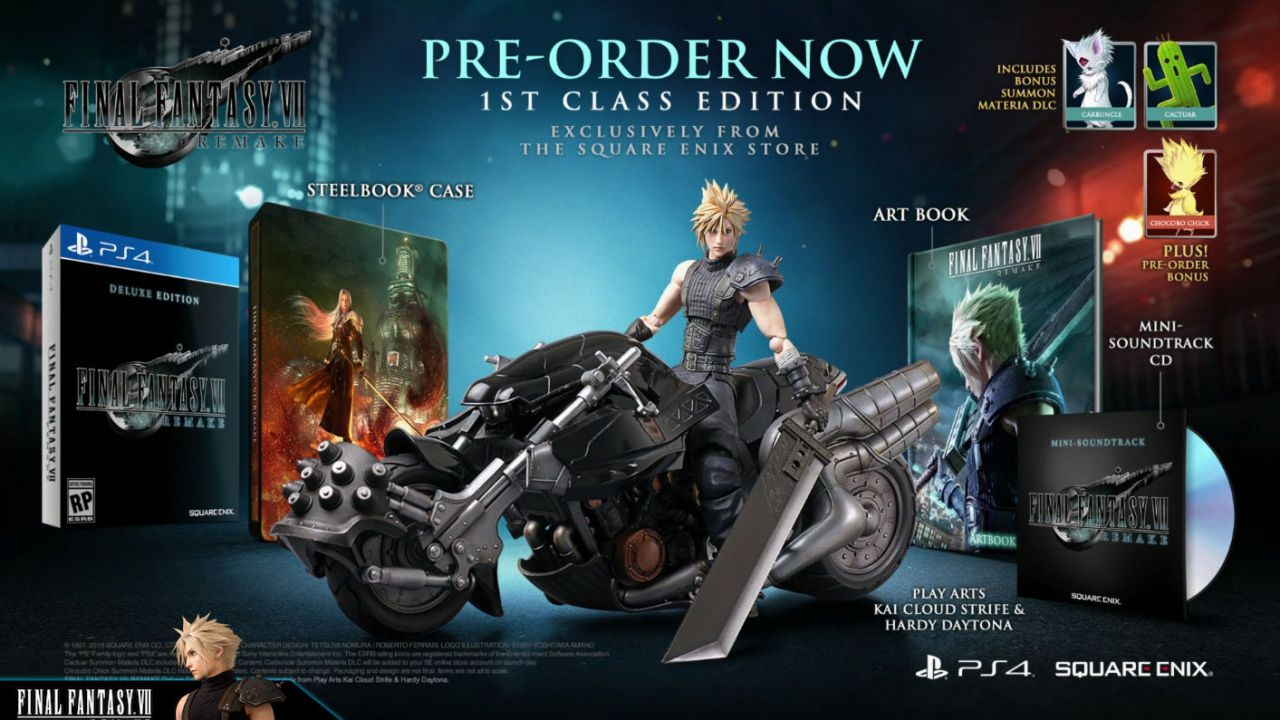 Final Fantasy VII Remake: annunciate edizioni Deluxe e First Class thumbnail