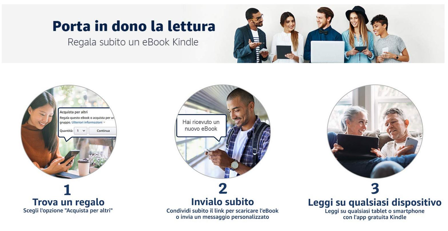 Amazon, ora è possibile regalare gli ebook su Kindle thumbnail