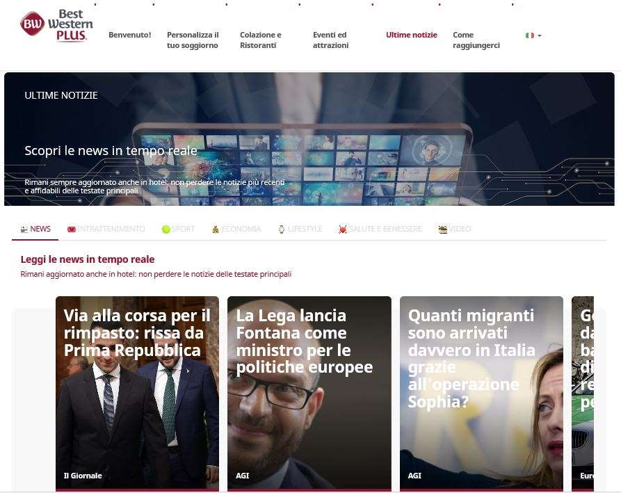 Best Western e Microsoft News: le ultime notizie anche in hotel thumbnail