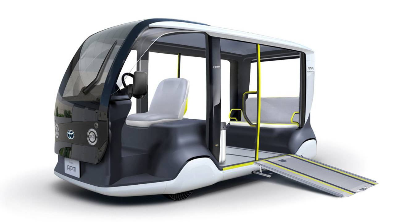 Toyota APM: shuttle futuristico per le Olimpiadi di Tokyo del 2020 thumbnail