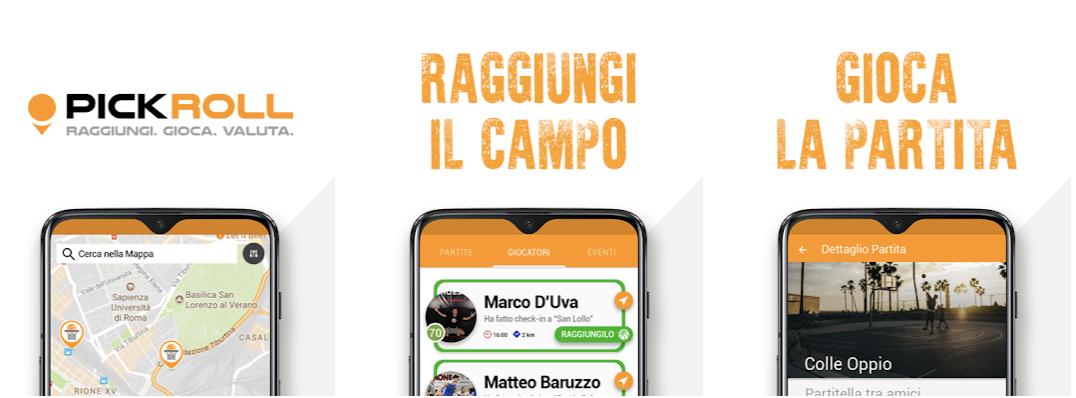 Pick-Roll, la prima App in Italia che mette in contatto appassionati di basket thumbnail