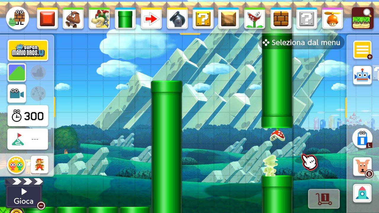 Super Mario Maker 2 editor livelli cursore
