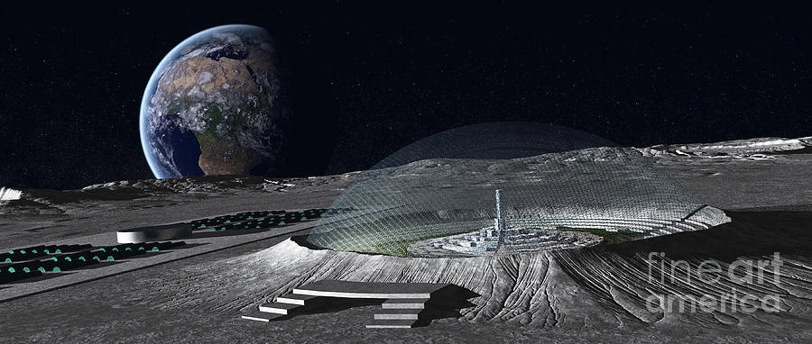 base lunare città