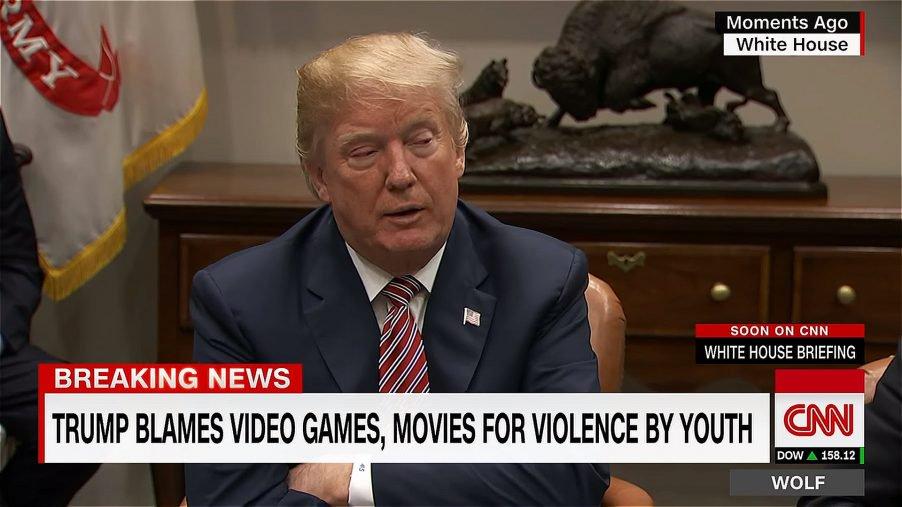 Donald Trump accusa i videogiochi violenti in merito alle sparatorie thumbnail