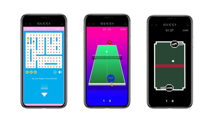 Gucci Arcade: videogame vintage nell'app del brand thumbnail