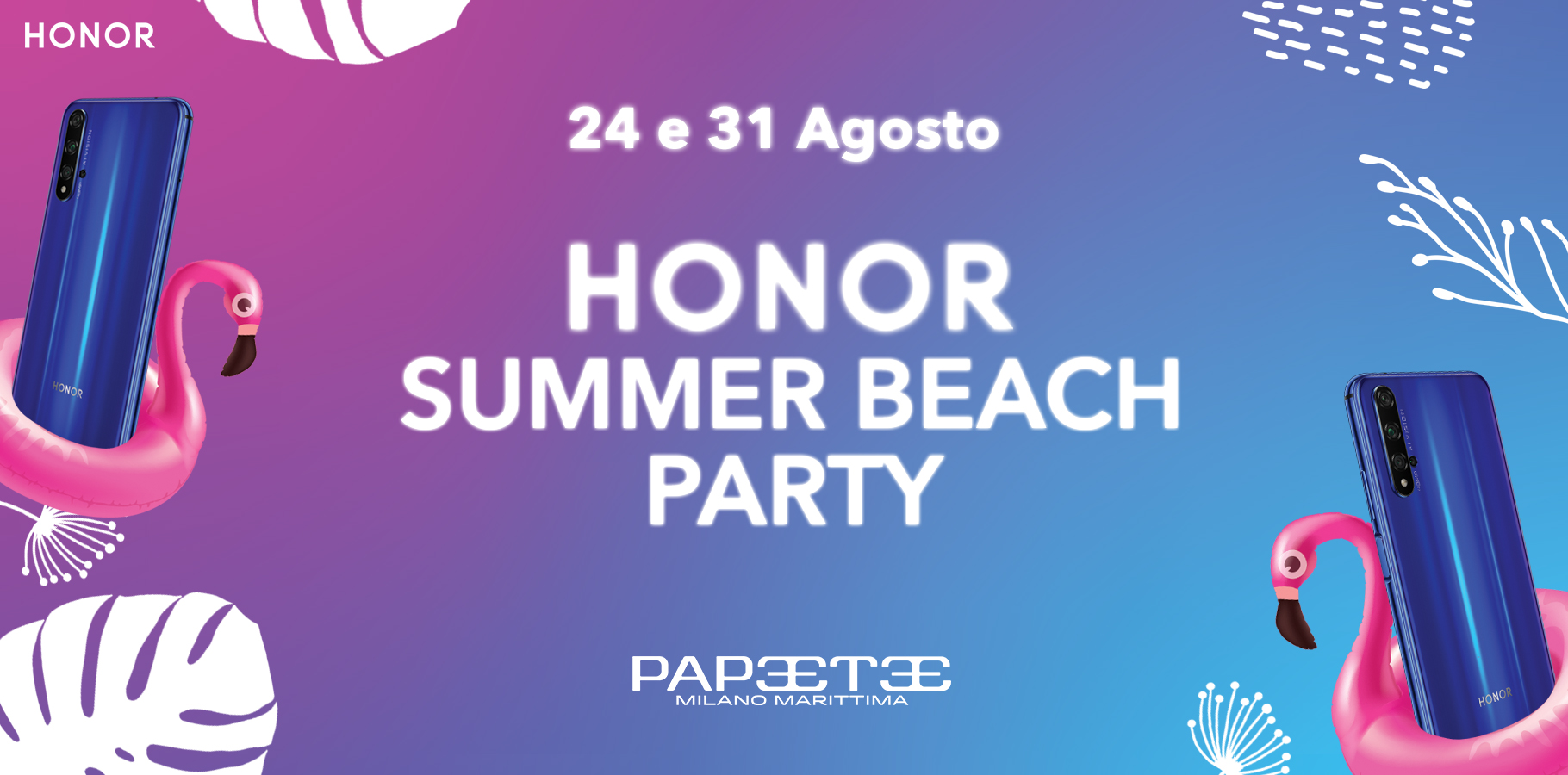 Honor Summer Beach Party: la festa colorata e social dell'estate 2019 thumbnail