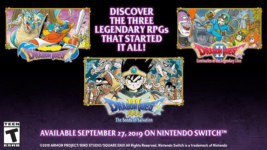 Dragon Quest: i primi tre capitoli della serie in arrivo su Nintendo Switch thumbnail