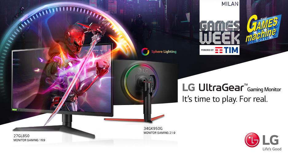 LG presenta due nuovi monitor da gaming alla Milan Games Week thumbnail