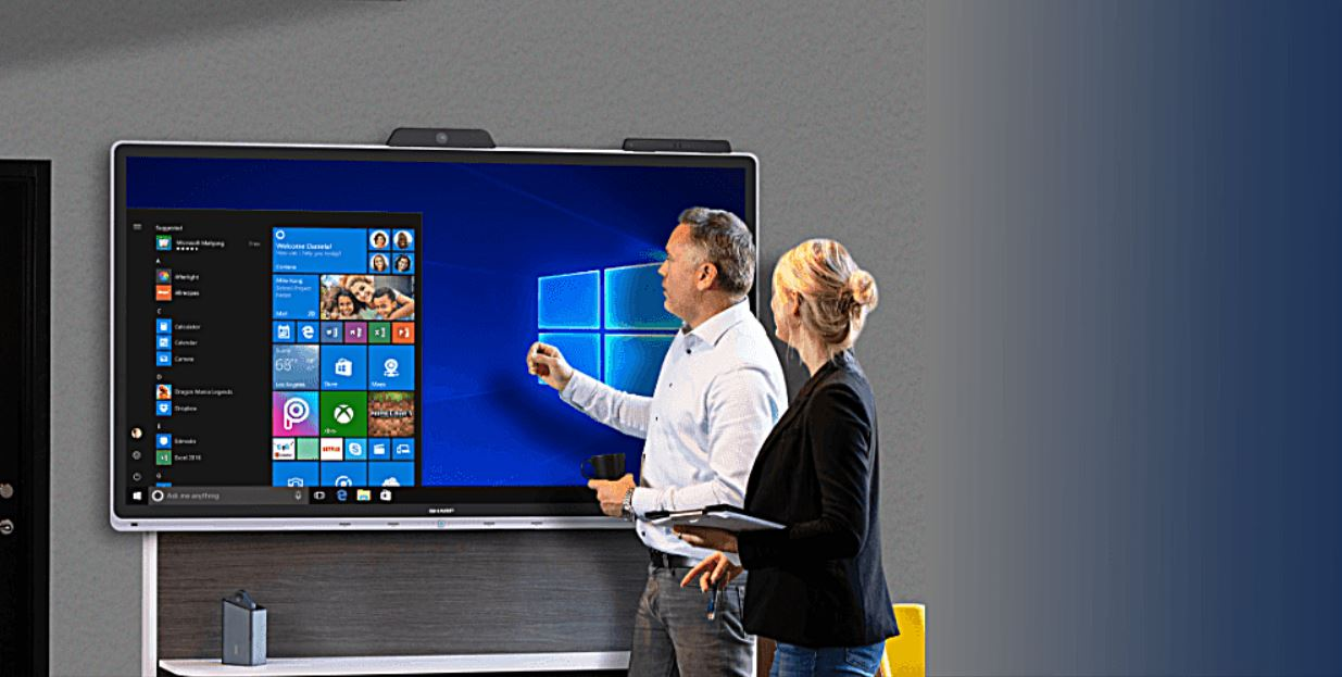Windows Collaboration Display: il monitori interattivo di Sharp thumbnail