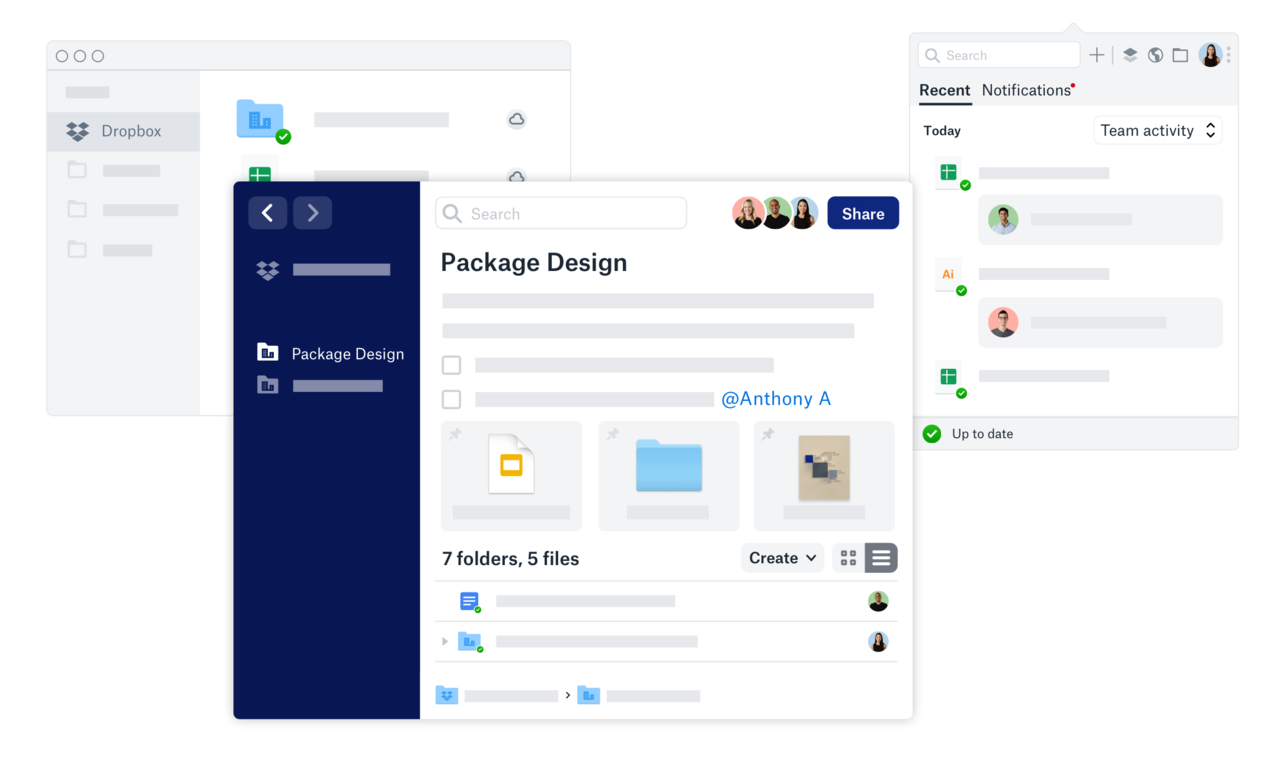 "Dropbox introduce il nuovo tool collaborativo ""Spaces"" thumbnail"