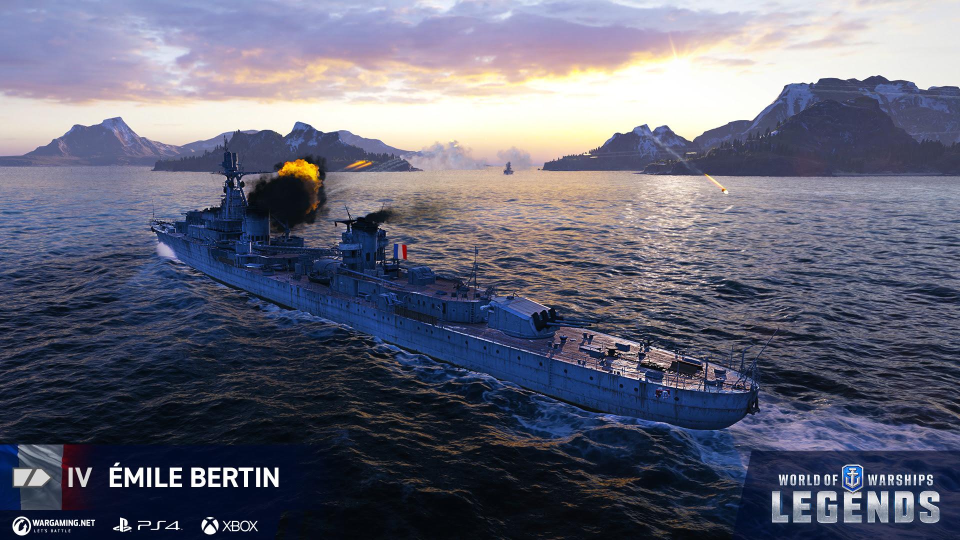 aggiornamento Francia World of Warships: Legends
