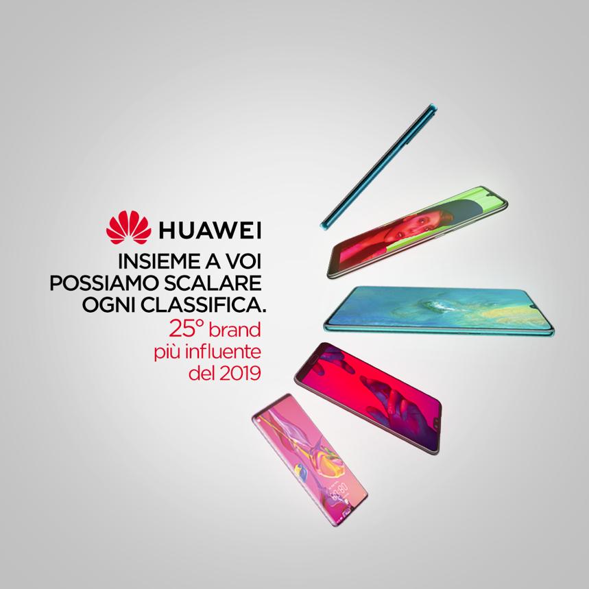 Huawei scala la classifica delle marche più influenti in Italia thumbnail