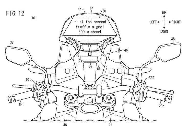 Honda sviluppa un head-up display touchscreen per moto thumbnail