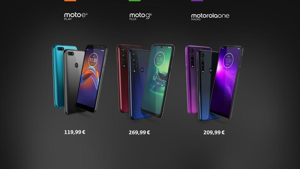 Motorola One Macro, Moto G8 Plus e Moto E6 Play: prezzi e caratteristiche thumbnail