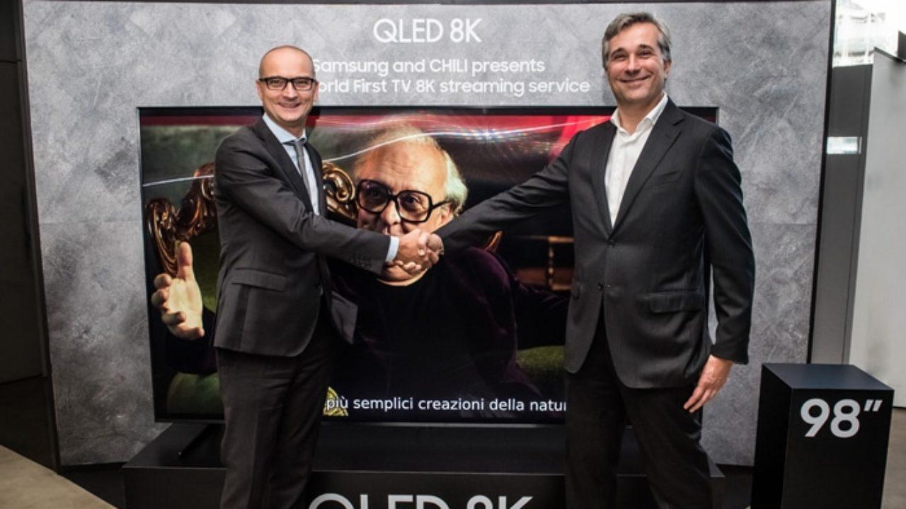 Samsung e CHILI uniti per il primo servizio streaming in 8K al mondo thumbnail