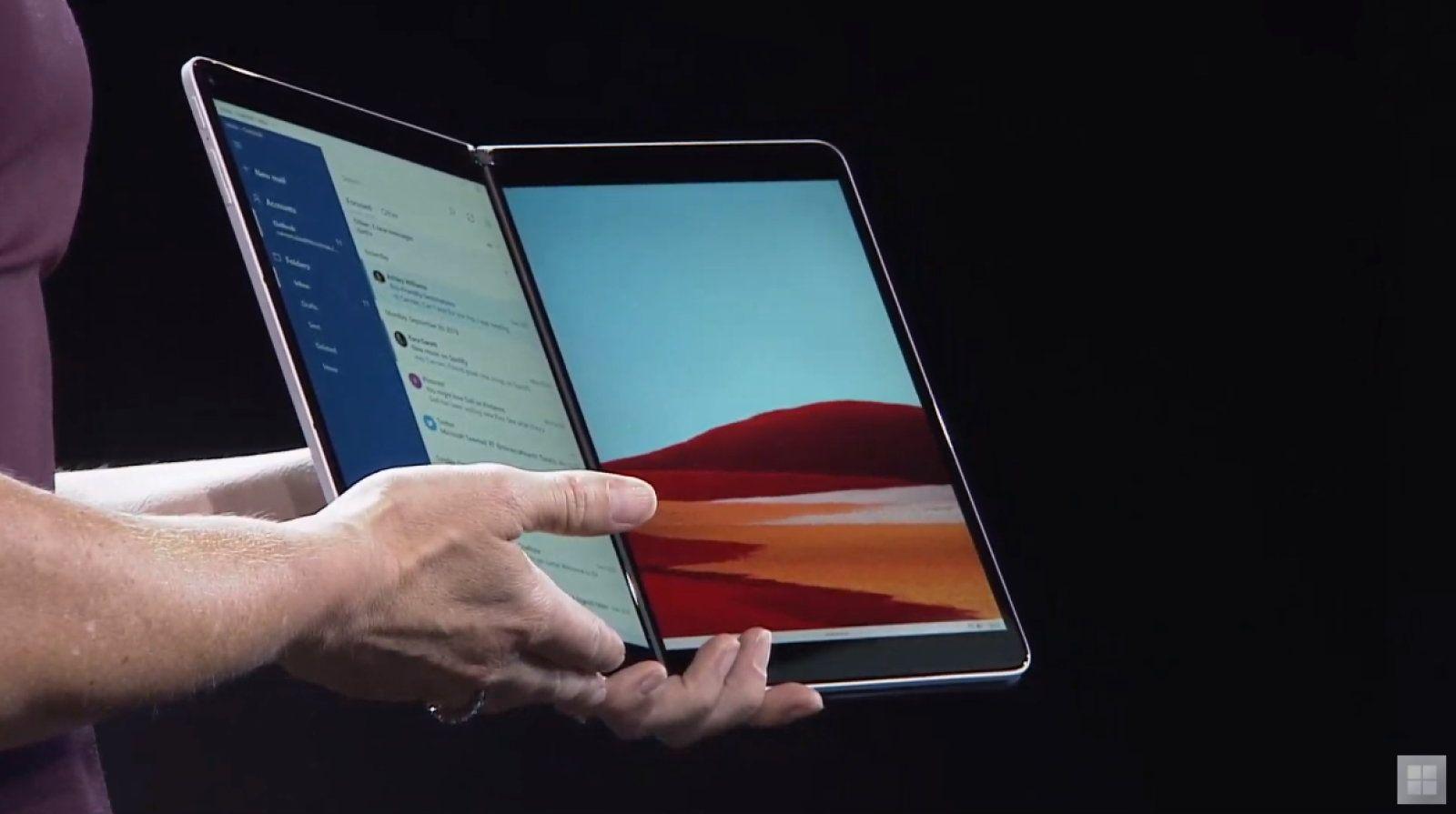 Surface Neo: il pieghevole di Microsoft con doppio schermo thumbnail
