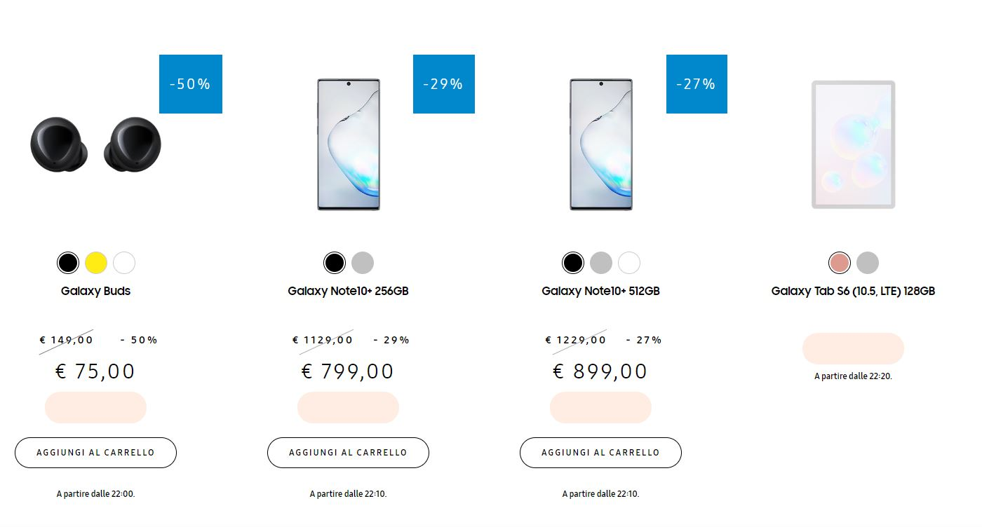 Offerta Samsung Galaxy: 3 ore di sconti fino al 50% solo per oggi thumbnail