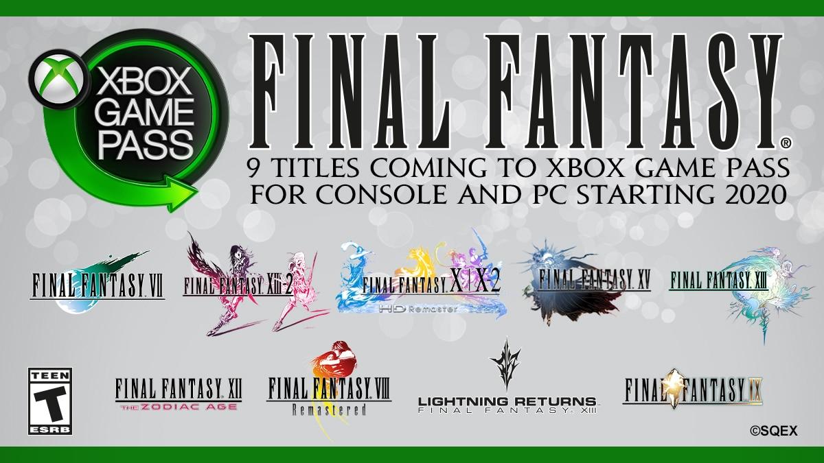 Final Fantasy: tanti titoli in arrivo con Xbox Game Pass nel 2020 thumbnail