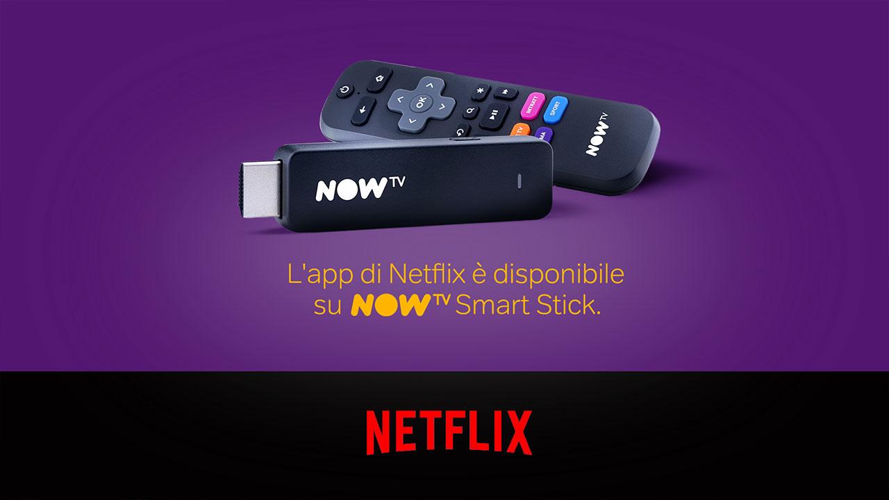L'applicazione Netflix sbarca su NOW TV Smart Stick thumbnail