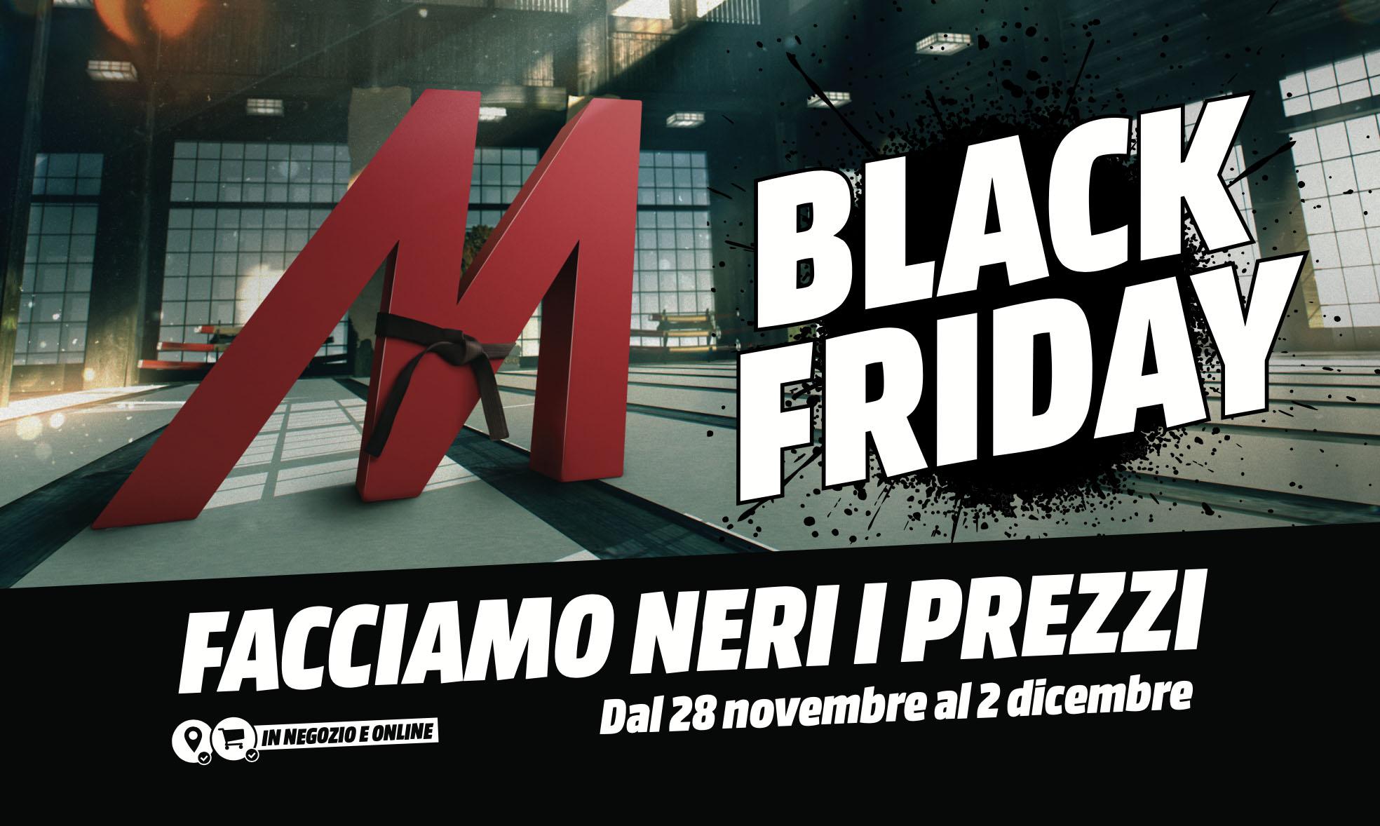 """Mediaworld e Black Friday: via alla promozione """"Facciamo Neri i Prezzi"""" thumbnail"""