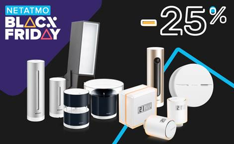 NETATMO al Black Friday: -25% sui suoi dispositivi thumbnail