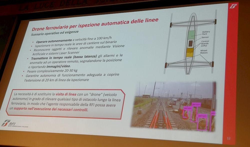 5G Italy FS Drone Ferroviario