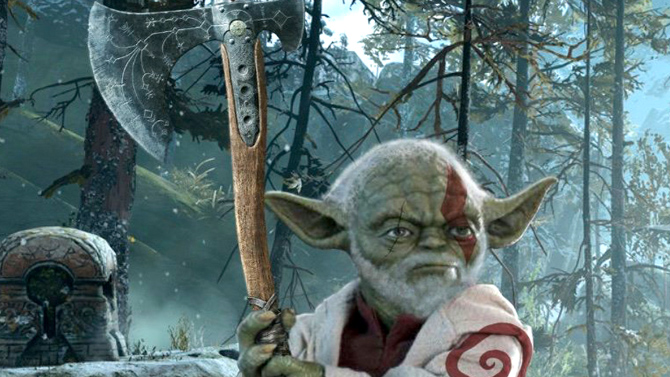 baby yoda-star wars-god of war
