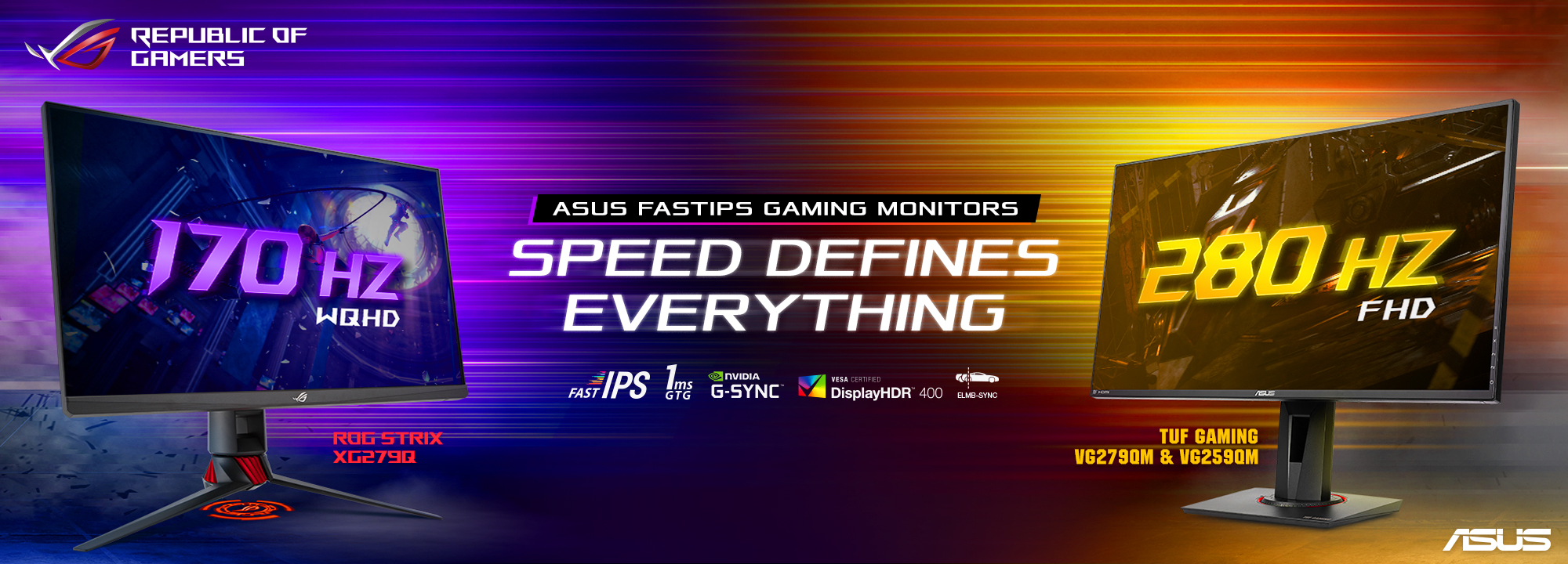 Asus monitor gaming: annunciati TUF Gaming VG259QM e VG279QM thumbnail