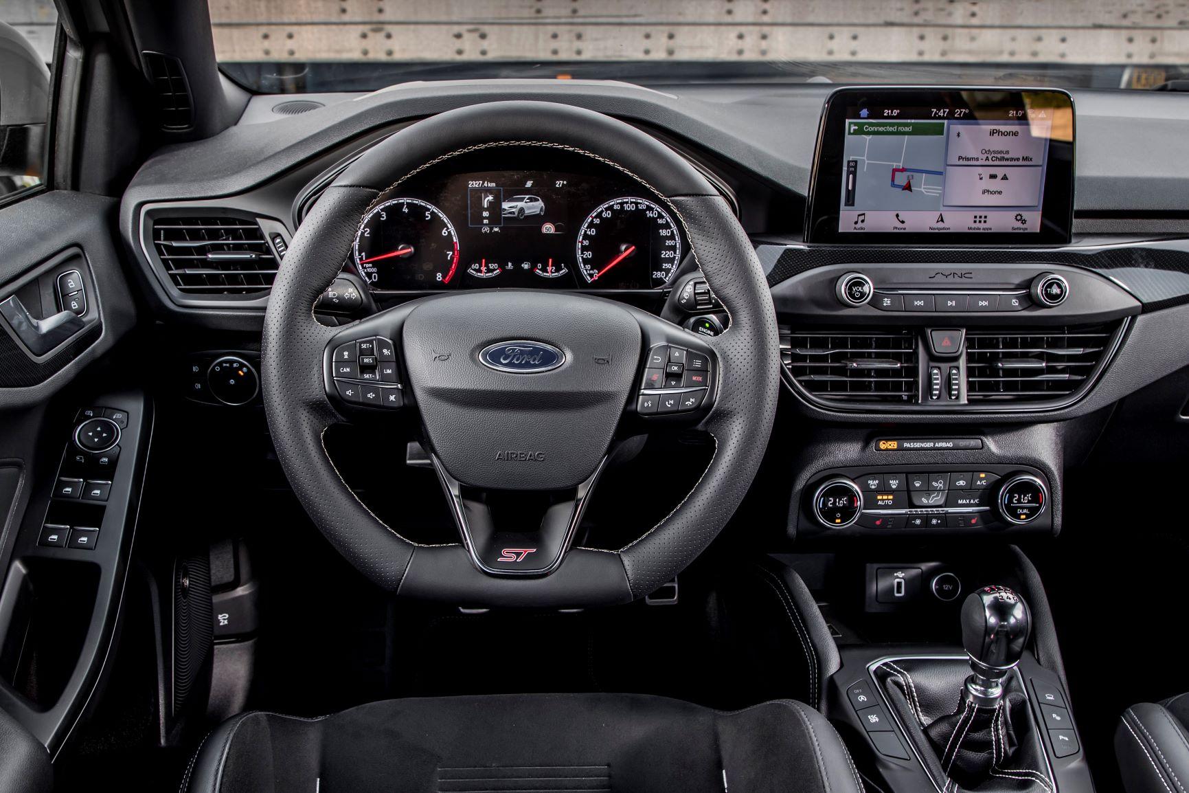 Ford Focus ST posizione di guida