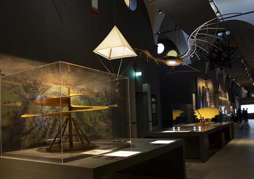 nuove gallerie leonardo museo sogno del volo