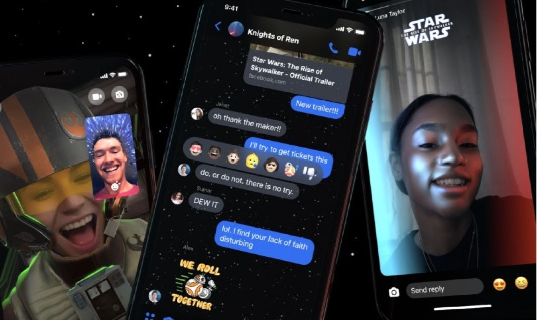 Star Wars Facebook Messenger: il nuovo tema invade Messenger thumbnail