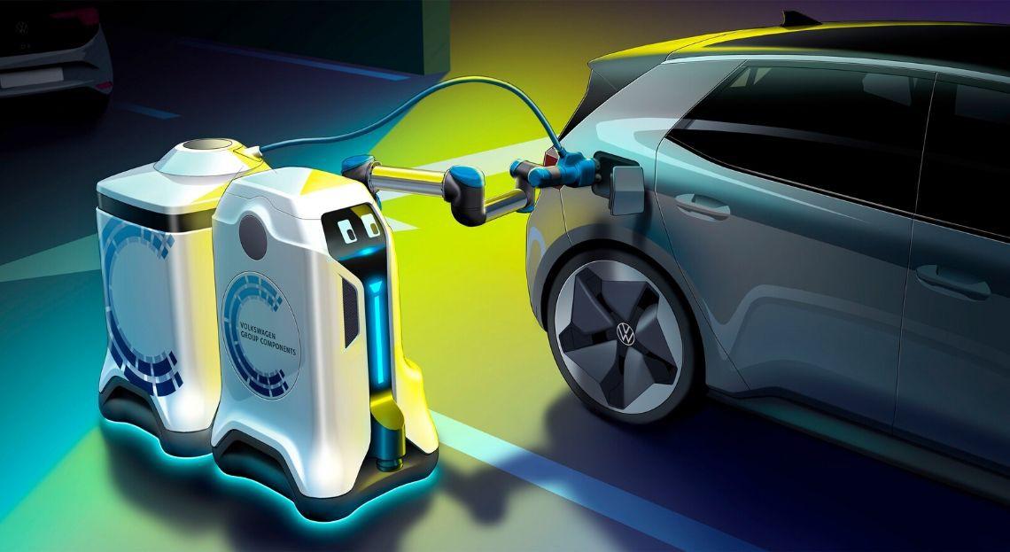 Volkswagen pensa a un robot per ricaricare le auto elettriche thumbnail