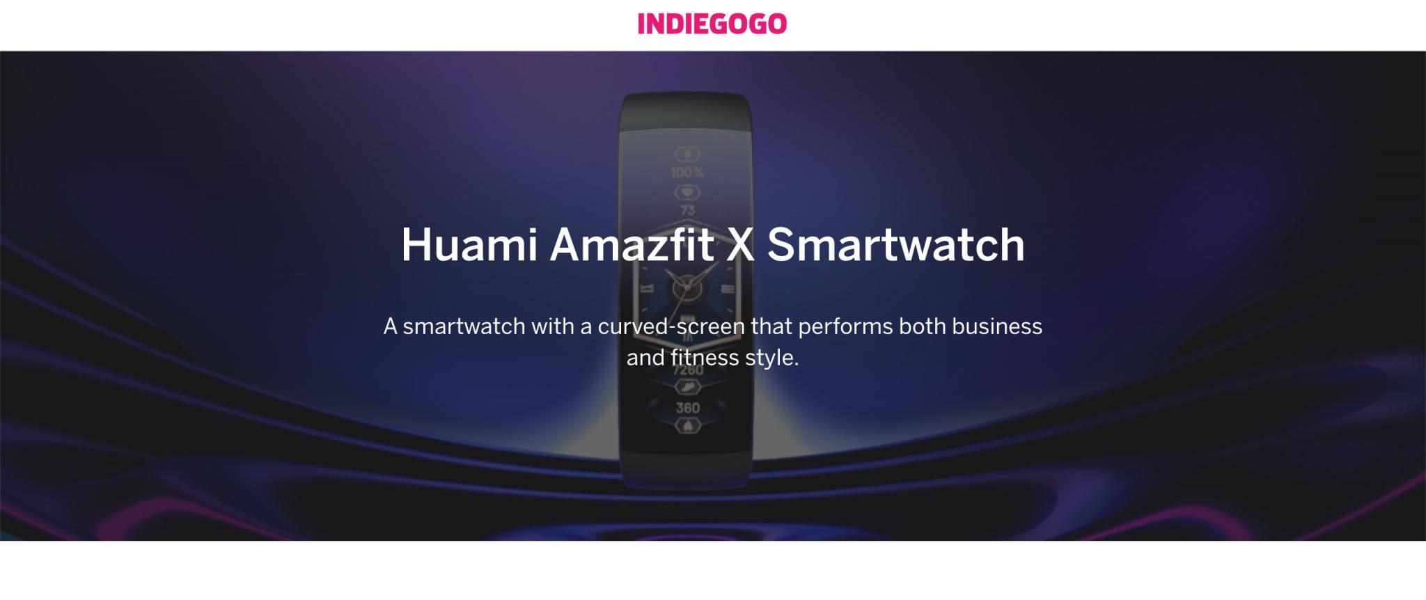 Amazfit X: lo smartwatch del futuro debutta su Indiegogo thumbnail
