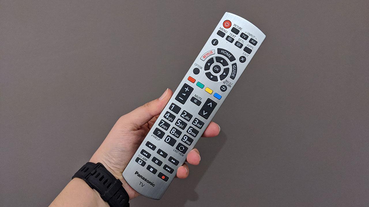 Panasonic GZ1500 recensione telecomando