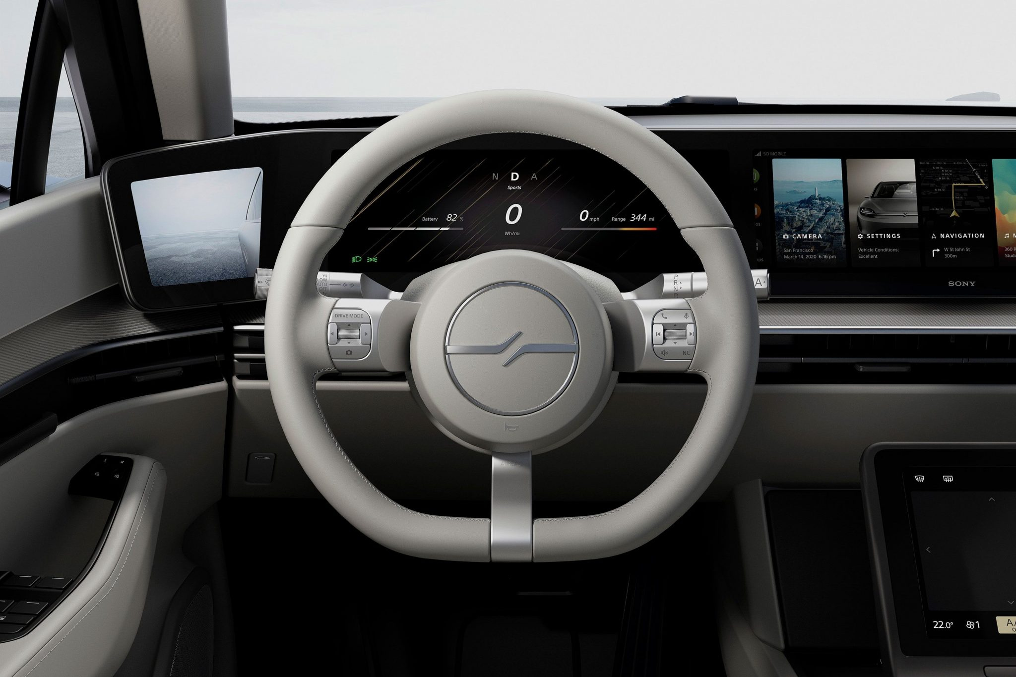 Sony Vision-S Cockpit