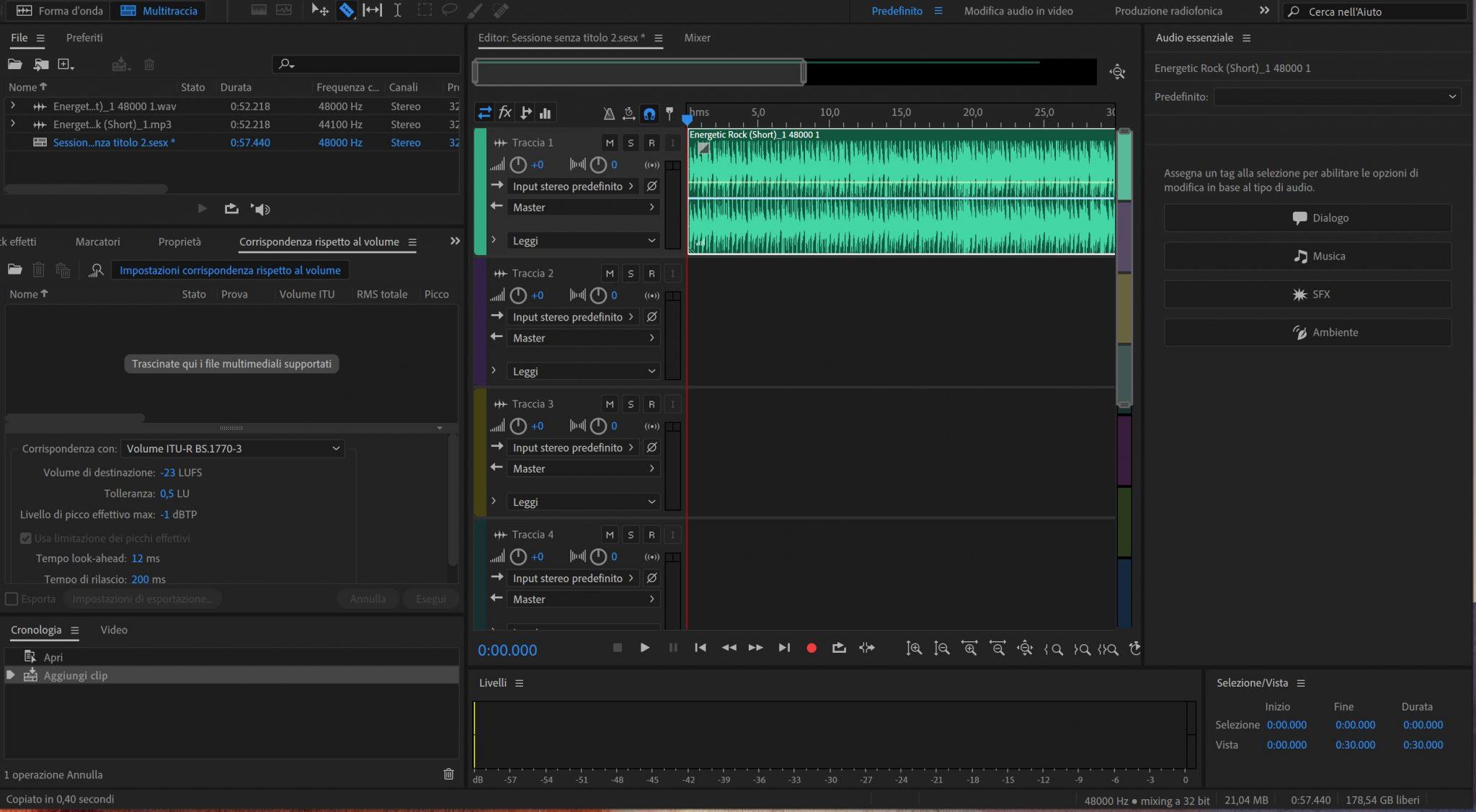 come creare un podcast adobe audition