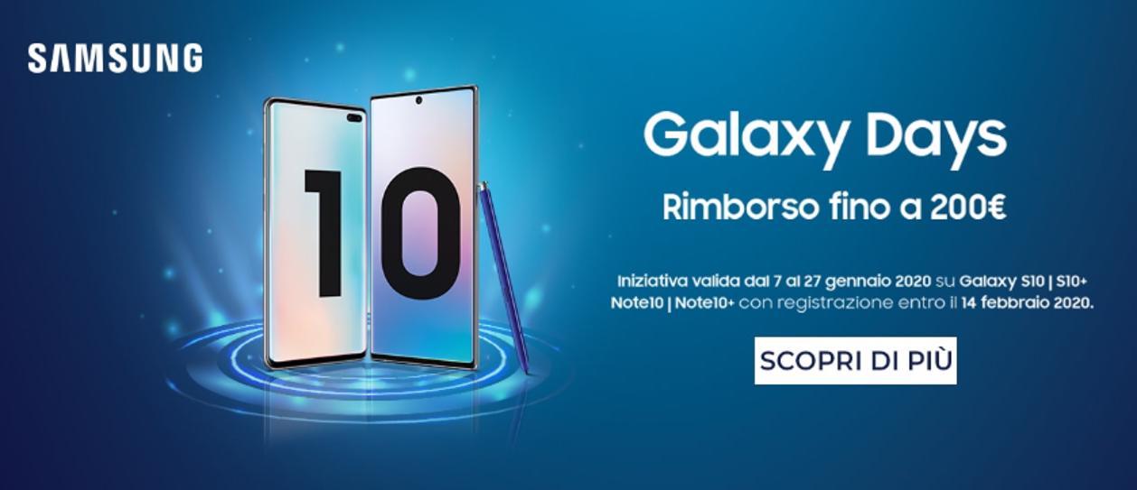 Tornano i Samsung Galaxy Days: rimborsi fino a 200€ thumbnail