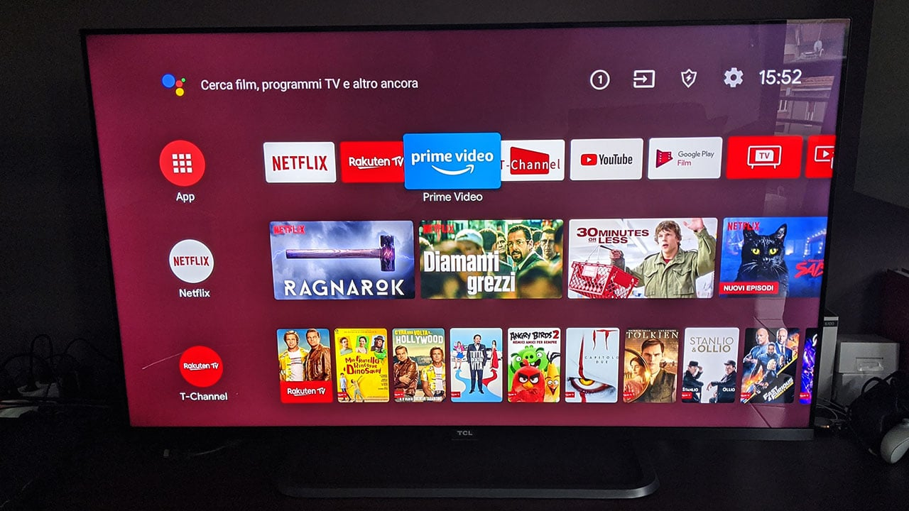TCL 50EP680 recensione Android TV