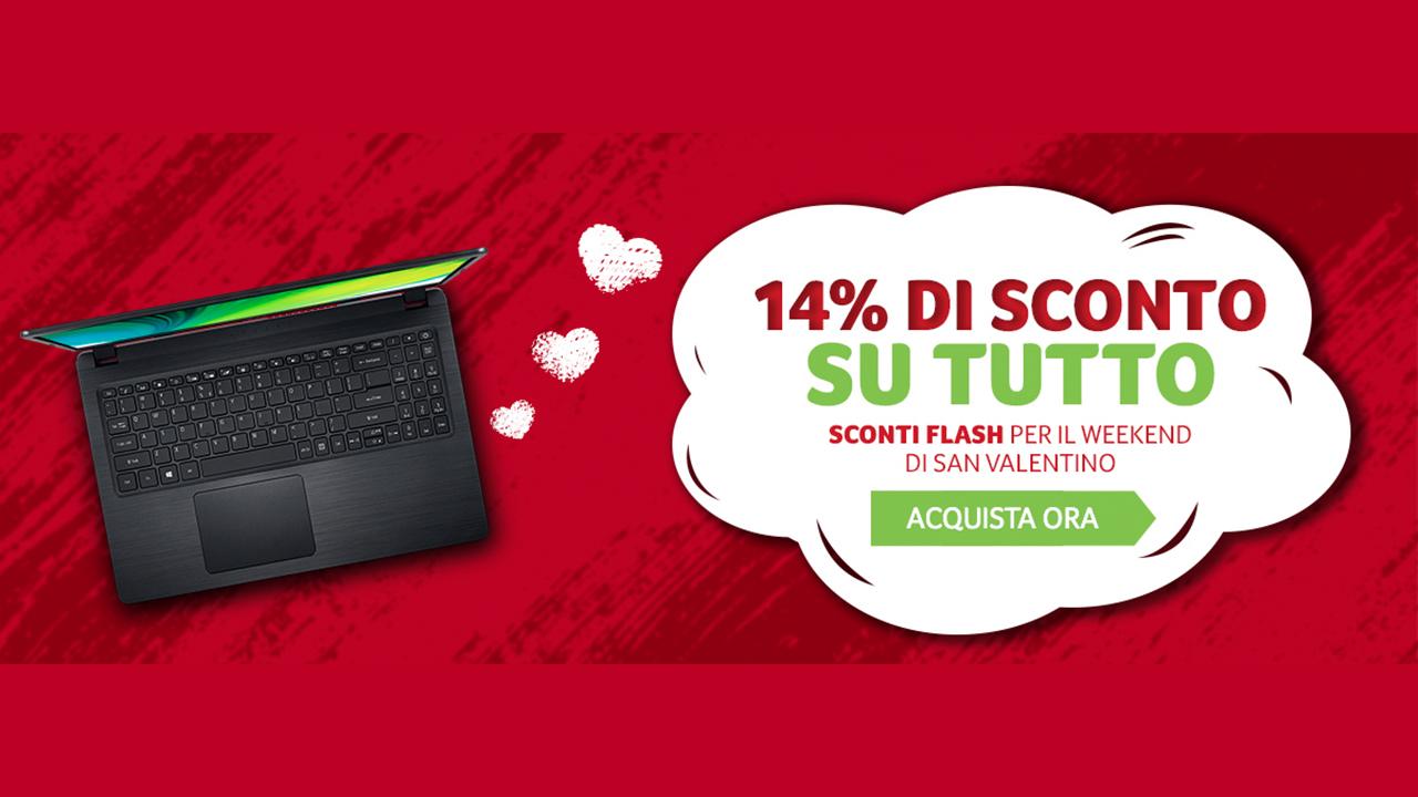 Acer: scontati tutti i prodotti dello store per San Valentino thumbnail