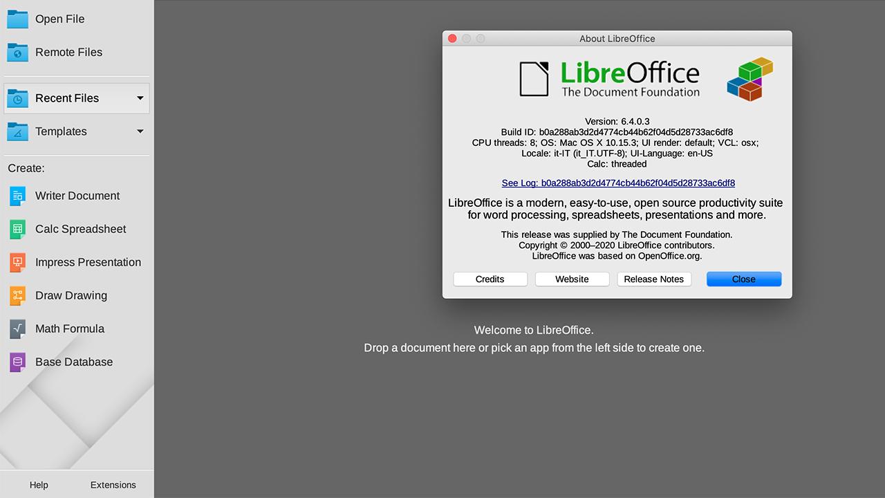 LibreOffice 6.4: nuova major release disponibile per il download thumbnail