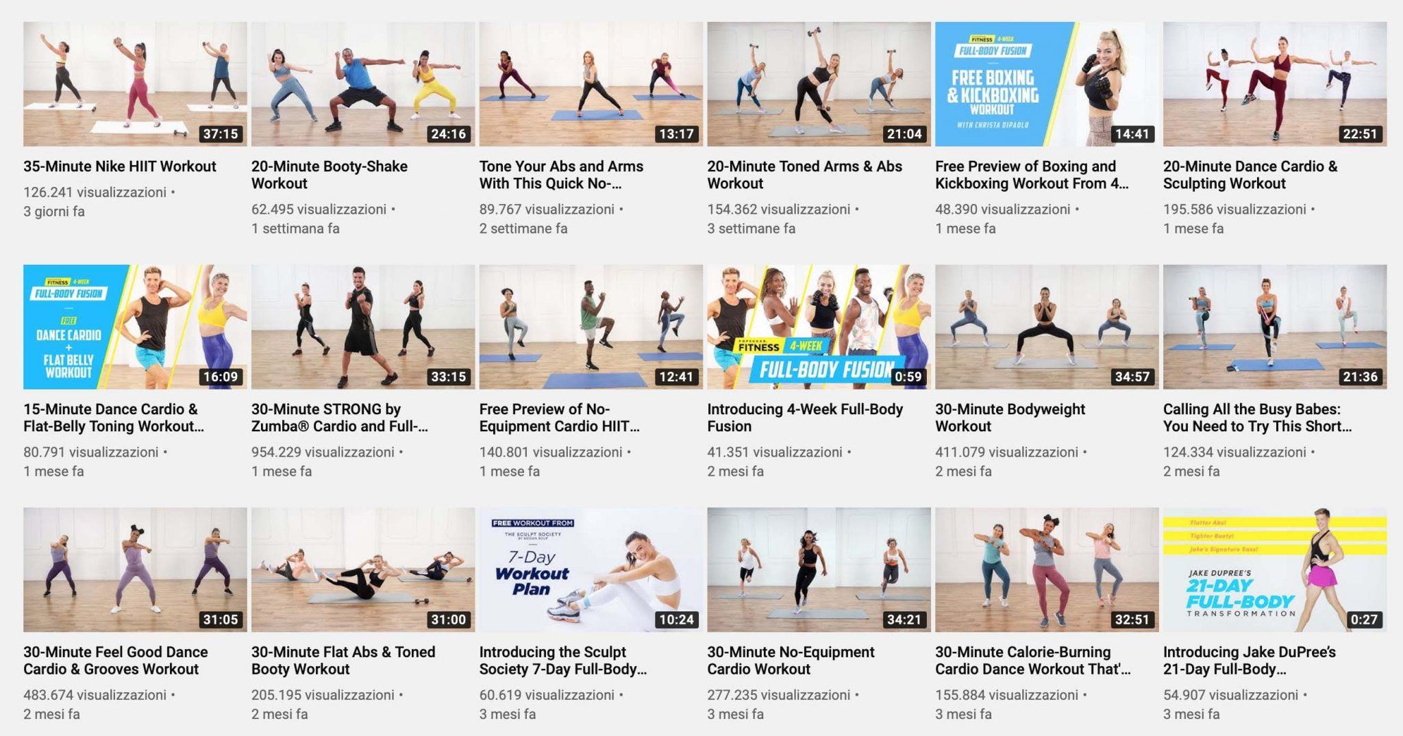 popsugar fitness rimanere in forma