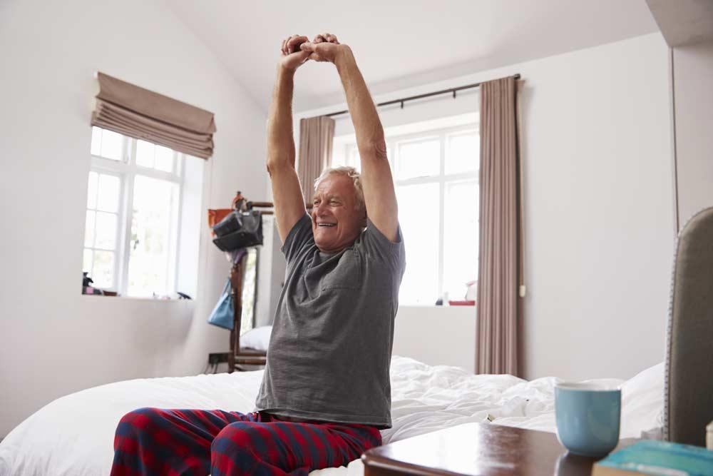 svegliarsi mattina esercizi domicilio anziani