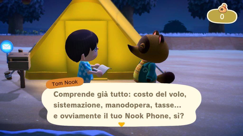 Animal Crossing New Horizons Tom Nook debito