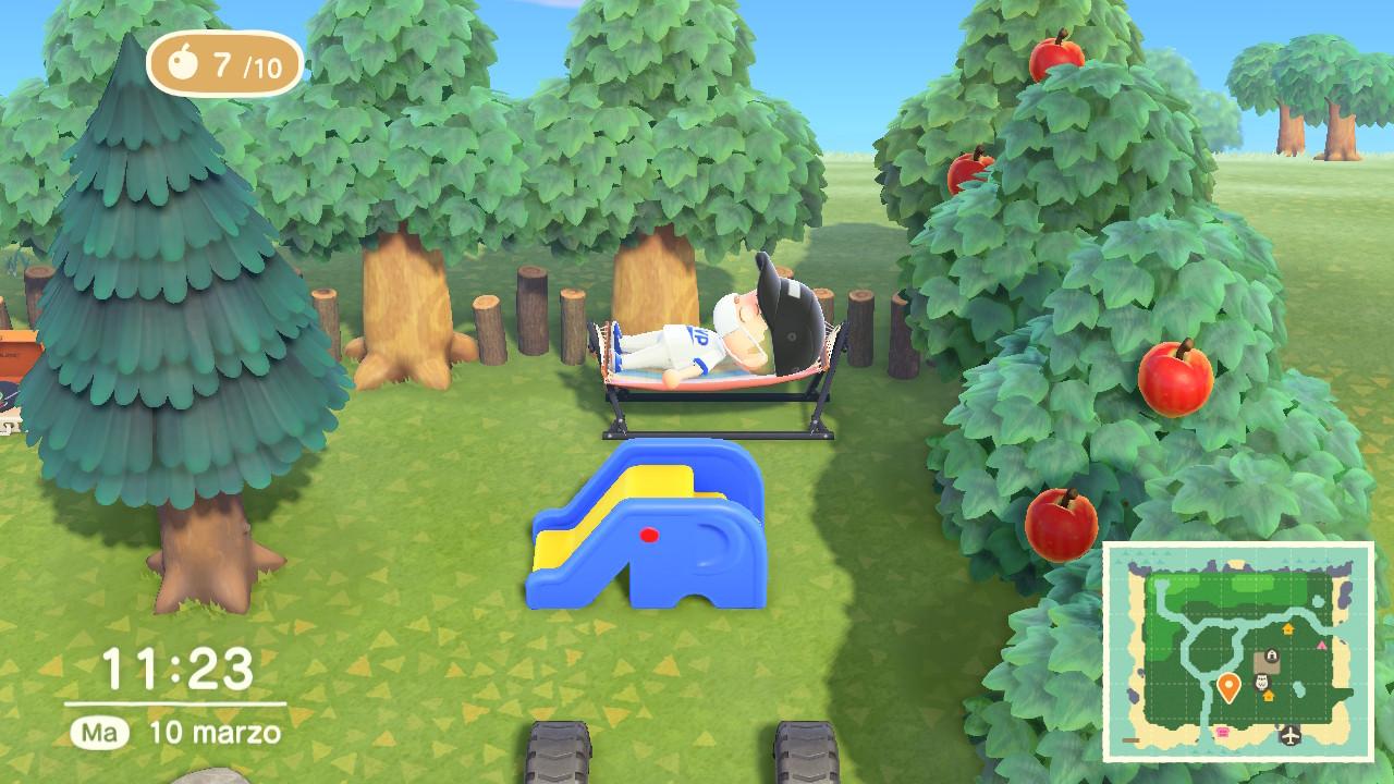 Animal Crossing New Horizons giardino