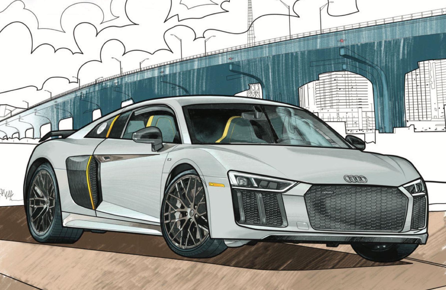 Pimp my Audi… su un libro da colorare thumbnail