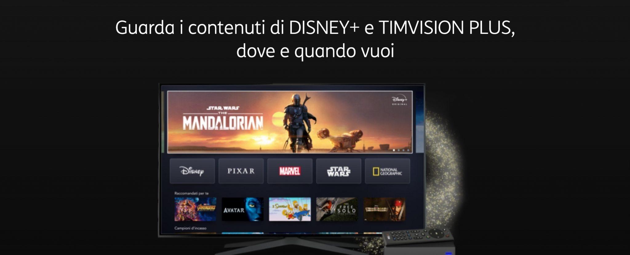 Disney+ Plus a soli 3 euro con Tim Vision Plus thumbnail