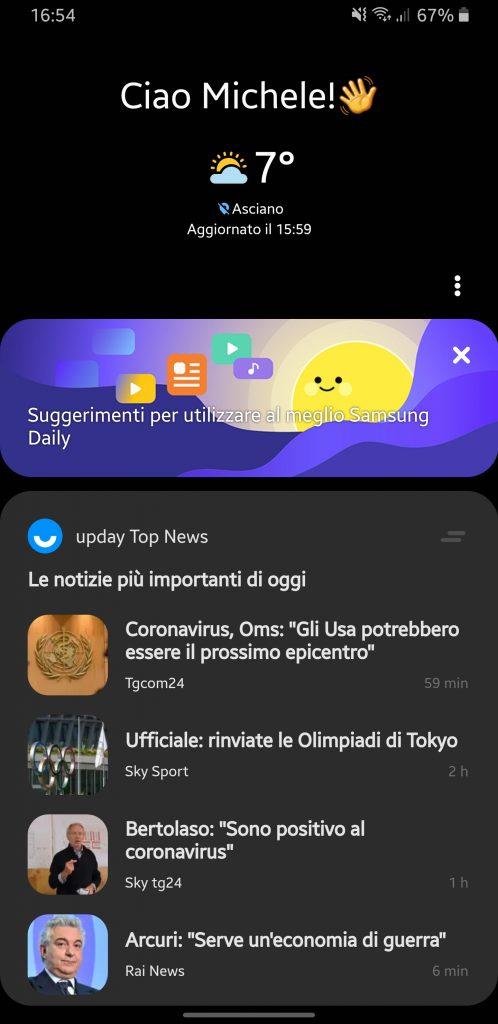 Samsung Daily Homescreen
