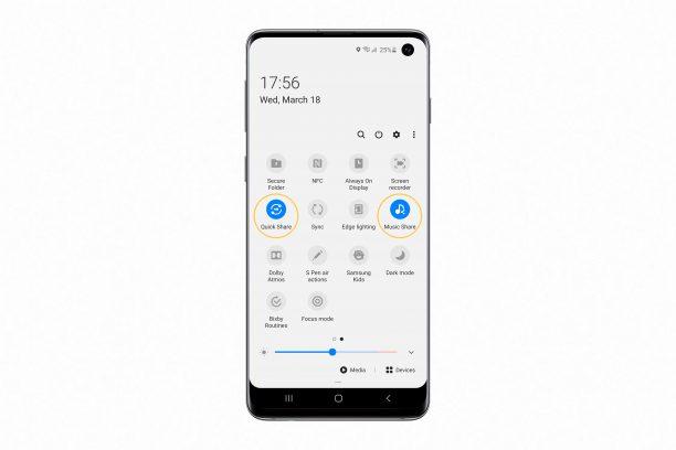 Samsung S10 aggiornamento condivisione