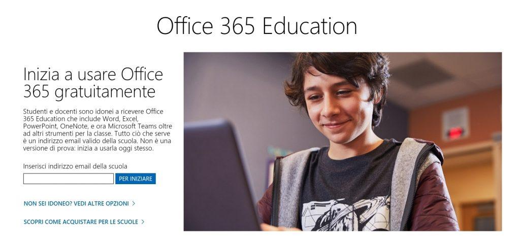 Office gratis scuole
