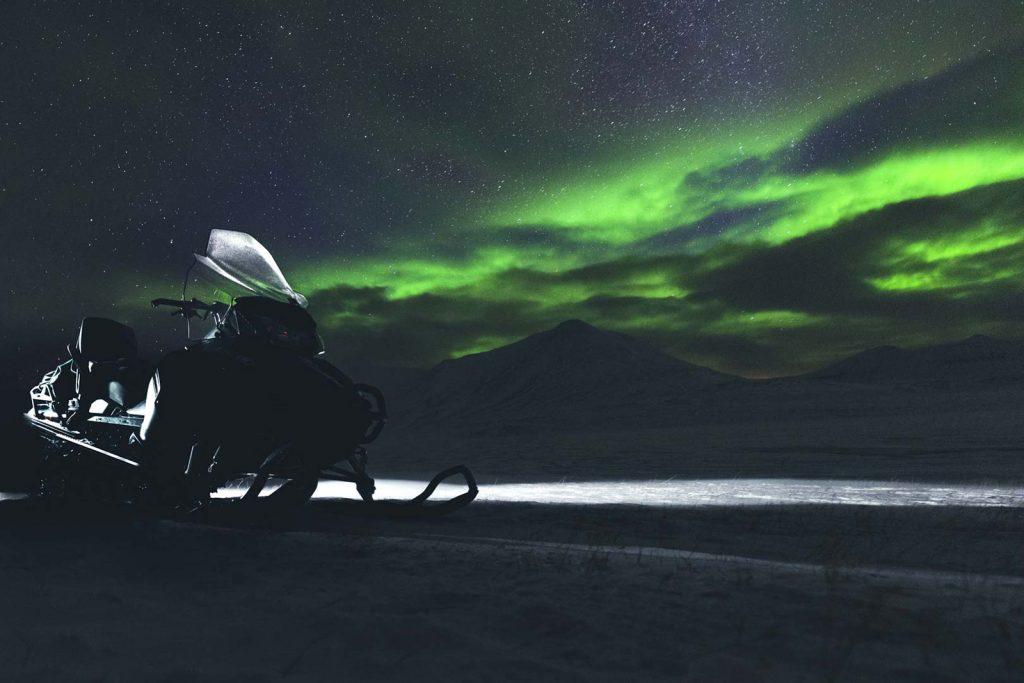 fotografare di notte, aurora boreale